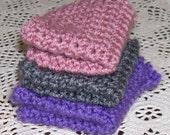 Lavender Fields Set of 3 Crocheted Dishcloths