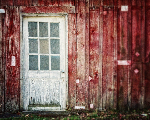Red Barn Wall Decor : Rustic red decor barn photograph by