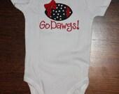 Georgia Girl football onesie