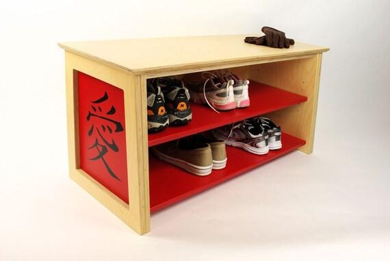 Handcrafted Shoe Bench Made in USA - SALE, shoe tansu, shoe rack, shoe organizer, shoe cabinet