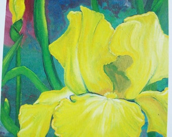 Yellow Iris - Note Card