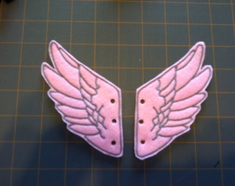 Pink and Grey Percy Jackson Inspired Shoe Wings