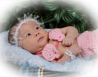 Crochet Sea Shell Bikini Top - Photography Prop