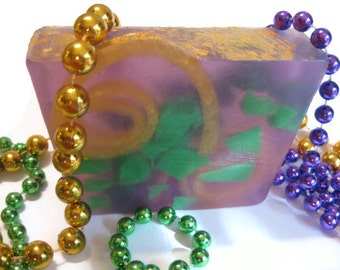 Mardi Gras Soap,NEW Fragrance Moscato,  Mardi Gras party, party favor, Mardi Gras, Gfit idea, New Orleasn