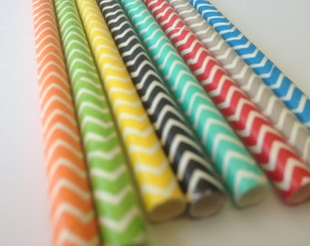 NEW Chevron Pattern Straws - Choose Your Color