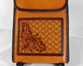 "SALE! Hand Tooled Leather 7"" Tablet Sleeve"