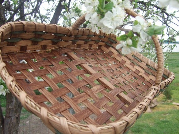Gathering Basket Making Materials : Herb gathering basket