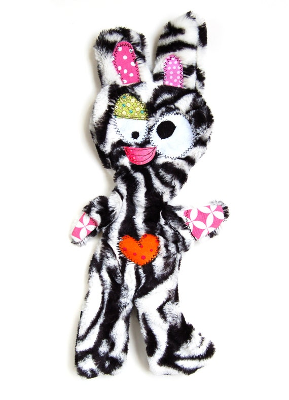 Stuffing & Squeaker Free Snuggly Fugly Dog Toy with Secret Heart Fortune  - Barriboo by Fugly Friends