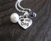 dog paws, dog paw necklace, dog lover necklace, dog lover jewelry, love my dog necklace, love my dog paw charm, love my dog pendant, dogs