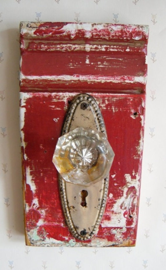 Cottage Chic Vintage Glass Doorknob Wall Art