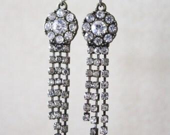 Dangle earrings, hanging earrings, stone earrings