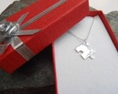Sterling silver jigsaw piece puzzle necklace, puzzle jewellery