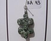 RA43 Autism Awareness Puzzle Piece Rock Pendant