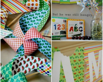 Very Hungry Caterpillar Party  pinwheels set of 8