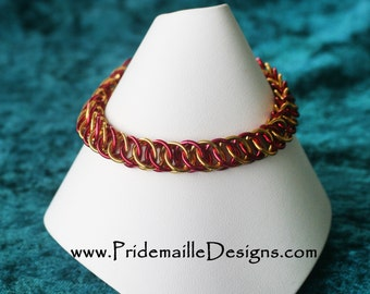 San Francisco 49ers Pride Bracelet - Half Persian Style - VERSION 2 - Chainmaille Jewelry