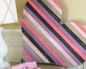 Wood Pallet Heart Large Heart Wall Art Wooden Heart Teen Room Decor Pallet Art Heart Nursery Decor