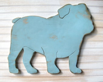 English Bulldog Sign Dog Home Decor English Bulldog Art American Bulldog Sign