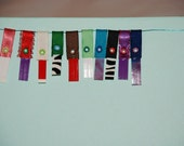 Package of 10  Krislet Wallet Tabs--Organize and personalize your wallet with ribbon tabs--Choose your variety
