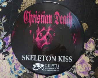 Vintage Christian Death Skeleton Kiss Rozz Williams Picture Disc Limited Edition Numbered Frame Worthy