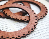 Wooden Bangle, Scalloped Hearts, Laser Cut