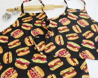 Father Son Hamburgers Aprons