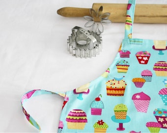 Sprinkles Cupcakes Child Apron - turquoise