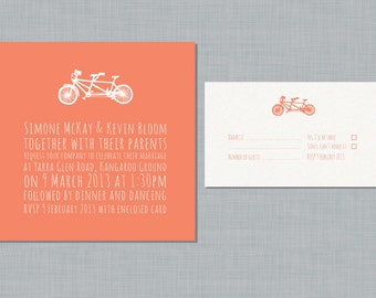 Printable Wedding Invitation Set - Biciclette