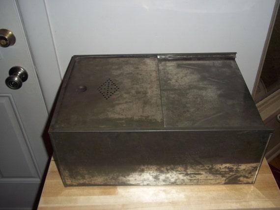 original vintage tin metal hoosier cabinet bread by fromanotherday