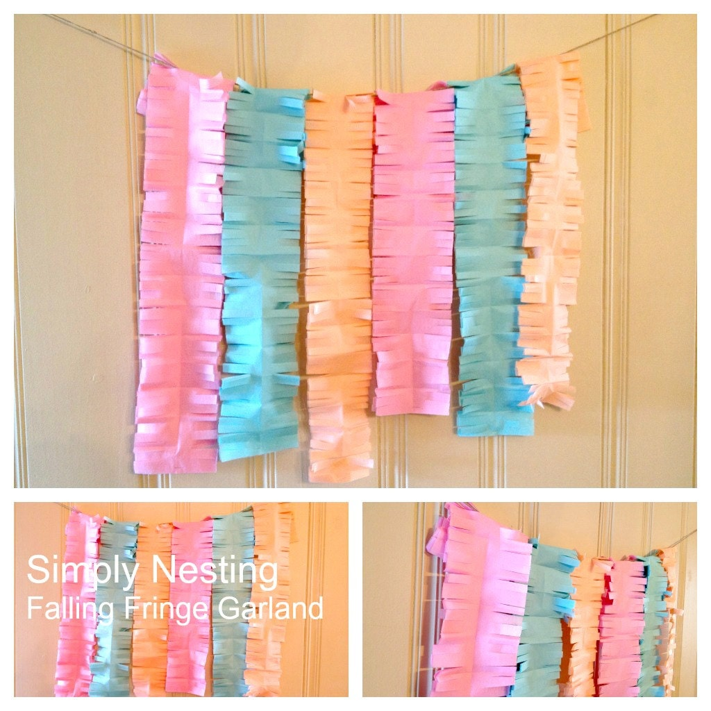 tissue paper garland And for the display, i thought it would be fun to make a little tissue paper tassel garland i loved it, so i thought i would share with you how i made it enjoy.