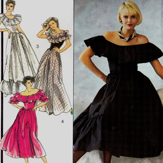 Style 4746 Chest 31 1/2 Inches 1986 Misses Evening Dress Fitted Sewing Pattern- 4