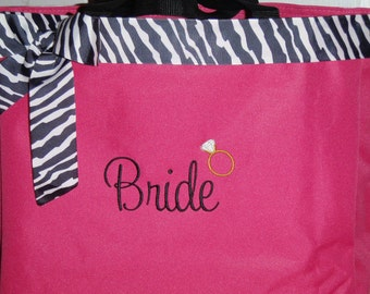 Personalized Wedding Brides Maids Tote Bag