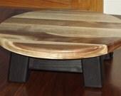"walnut/ Reclaimed wood/ Riser/ Modern/ round/  step stool/ 4""H"