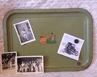 Vintage Tray Message Board Serving Tray