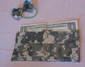 Camo Duck (Duct) Tape Wallet and Hairbow
