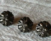 Sardinian style burnished metal buttons 1.5 cm
