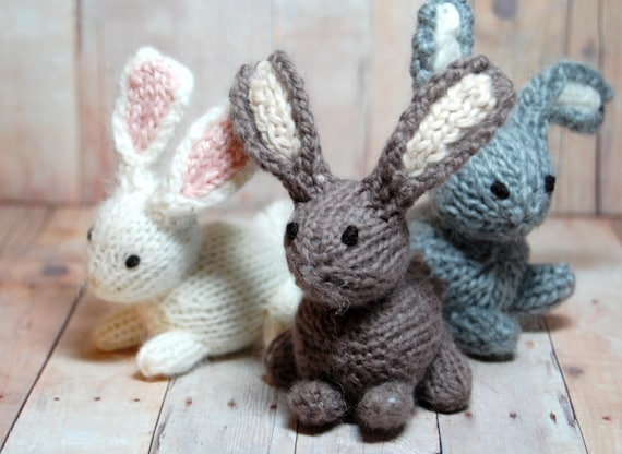 Bunny Toy, Stuffed Bunny Rabbit, Waldorf Animal, Bunny Plush, Bunny Toys, Knit Bunny, Bunny Nursery, Eco-Friendly, White Rabbit, Woodland