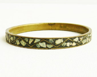 Vintage Bangle Bracelet Tuquoise British India