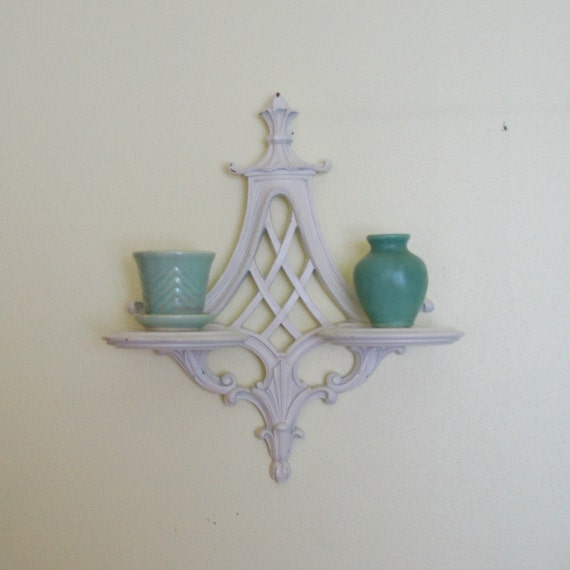 Wall Sconce Shelf White Shabby Chic by SentimentalFavorites