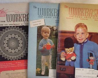 Set of Three Workbasket Magazines 1958 1969 1965