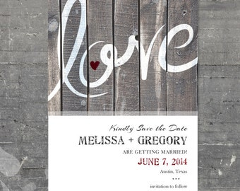 Love Save the Date - Printable