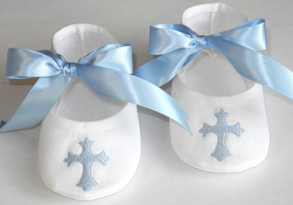 Gift Baby Boy Baptism : Christening booties baby boy baptism shoes by kaylanesisters
