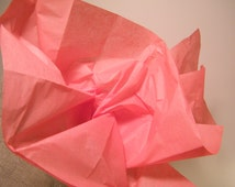 """Coral Pink Tissue Paper BULK Craft Supplies, 48 sheets DIY Coral Wedding, DIY Pom Pom tissue, Gift Wrap, Tissue Paper Sheets  20"""" X 30"""""""