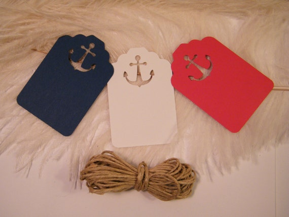 Nautical Wedding Gift Tags : Items similar to 12 DIY Nautical Wedding Placecards / Gift Tags with ...