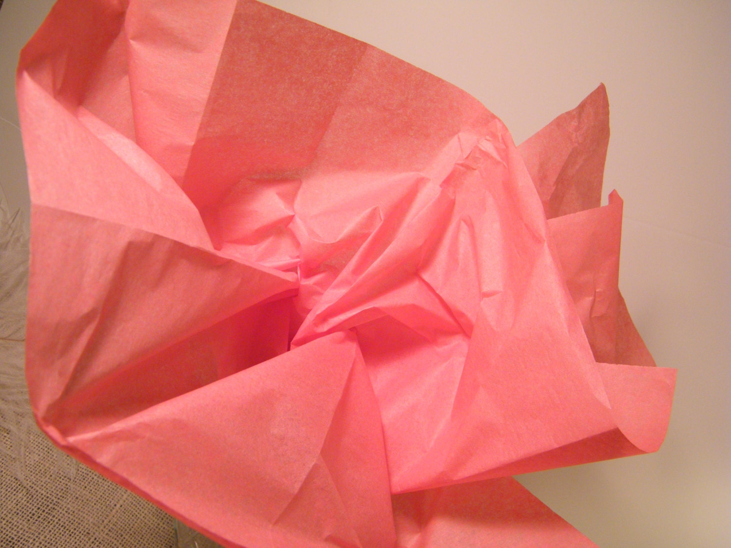 coral pink tissue paper bulk craft supplies 48 by morrelldecor