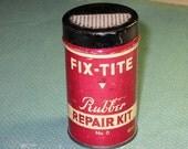 Vintage Fix-Tite Rubber Repair Kit Tin