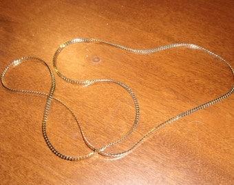 vintage necklace goldtone chain