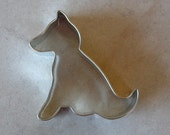 "Sitting German Shepherd Dog Cookie Cutter - 3"" metal cutter made in USA - for cookies, dog biscuits, fudge, playdough, crafts"