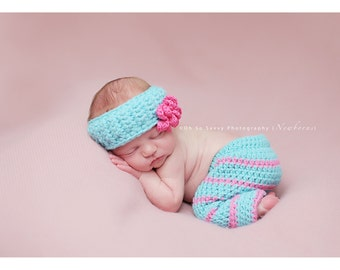 Cotton Candy Crochet Pant and Headband set PATTERN ONLY