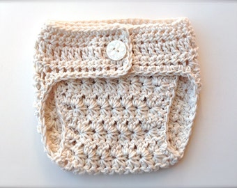 Crochet Pattern for  Star Stitch Diaper Cover - newborn and 0-6 months - Welcome to sell finished items