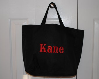 Personalized Tote Bag Embroidery Custom Cheer Dance Monogrammed Embroidered Baby Bridesmaid Gift Wedding